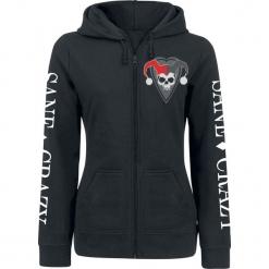 Harley Quinn Sane & Crazy Bluza z kapturem rozpinana damska czarny. Czarne bluzy rozpinane damskie Harley Quinn, l, z nadrukiem, z kapturem. Za 184,90 zł.
