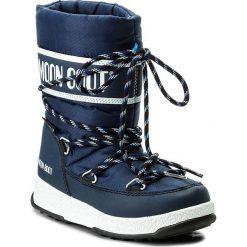 Buty zimowe chłopięce: Śniegowce MOON BOOT - We Sport Jr Wp 34051300002 Blu Navy/Bianco