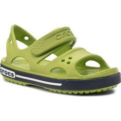 Sandały CROCS - Crocband II Sandal Ps 14854 Volt Green/Navy. Zielone sandały chłopięce marki Crocs, z tworzywa sztucznego. Za 129,00 zł.