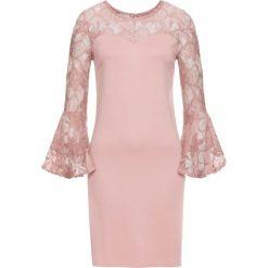 Sukienki: Sukienka z dżerseju z rozkloszowanymi rękawami bonprix różowobrązowy