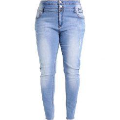 City Chic JEAN HARLEY VIBES Jeansy Slim Fit light indigo. Niebieskie jeansy damskie marki City Chic, z bawełny. W wyprzedaży za 303,20 zł.