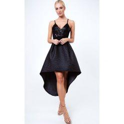 Sukienki: Sukienka z trenem czarna 7827