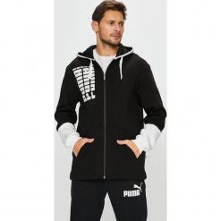 Puma - Bluza. Szare bluzy męskie rozpinane marki Puma, l, z nadrukiem, z bawełny, z kapturem. Za 289,90 zł.