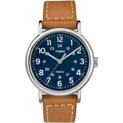 Zegarek Timex Męski TW2R42500 Weekender Indiglo brązowy. Brązowe zegarki męskie Timex. Za 309,10 zł.