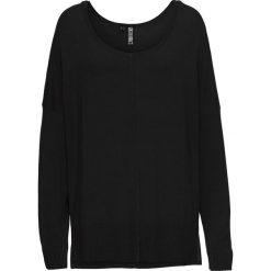 Sweter dzianinowy oversize bonprix czarny. Czarne swetry oversize damskie marki bonprix, z dzianiny. Za 74,99 zł.