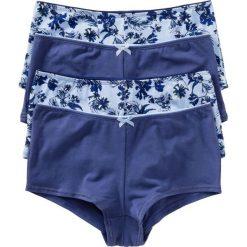 """Figi """"french"""" (4 pary) bonprix niebieski z nadrukiem. Niebieskie figi bonprix, z nadrukiem, z bawełny. Za 39,96 zł."""