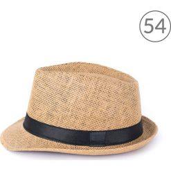 Kapelusze damskie: Art of Polo kapelusz unisex Klasyczny trilby na lato brązowo-czarny r. 54