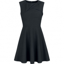Voodoo Vixen Claudette Skaterdress Sukienka czarny. Czarne sukienki na komunię Voodoo Vixen, s, z materiału, z dekoltem na plecach. Za 129,90 zł.