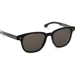 Okulary przeciwsłoneczne BOSS - 0956/S Black 807. Czarne okulary przeciwsłoneczne damskie lenonki marki Boss. W wyprzedaży za 519,00 zł.