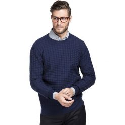 Sweter FABIANO SWGR000188. Niebieskie swetry klasyczne męskie Giacomo Conti, m, z bawełny. Za 189,00 zł.