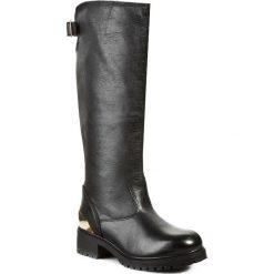 Kozaki LOVE MOSCHINO - JA26094G0JJJ0000  Nero. Szare buty zimowe damskie marki Love Moschino, z materiału. W wyprzedaży za 859,00 zł.