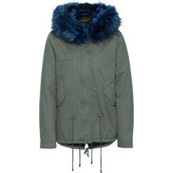 Kurtka parka bonprix oliwkowo-niebieski. Zielone kurtki damskie zimowe bonprix. Za 129,99 zł.