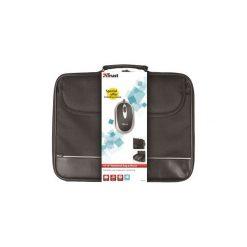 Torba do laptopa Trust 16'' + mysz optyczna (18902). Czarne torby na laptopa TRUST, w paski. Za 64,99 zł.