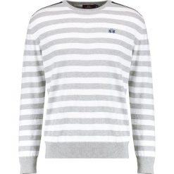 La Martina CREW NECK Sweter grey. Szare kardigany męskie La Martina, m, z bawełny. W wyprzedaży za 347,40 zł.