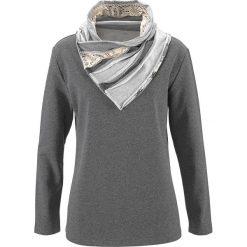 Bluza bonprix antracytowy melanż. Szare bluzy rozpinane damskie bonprix, melanż. Za 89,99 zł.