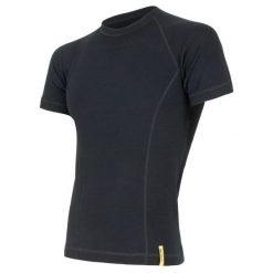 Odzież termoaktywna męska: Sensor Koszulka Termoaktywna Z Krótkim Rękawem Double Face Merino Wool M Black Xxl