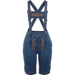 """Dżinsy ludowe na szelkach bonprix niebieski """"stone"""". Niebieskie jeansy damskie bonprix. Za 149,99 zł."""