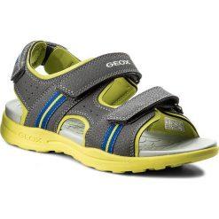 Sandały GEOX - J Vaniett B. B J825XB 015CE C1267 D  Dk Grey/Lime. Szare sandały męskie skórzane Geox. W wyprzedaży za 179,00 zł.