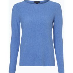 Franco Callegari - Sweter damski, niebieski. Zielone swetry klasyczne damskie marki Franco Callegari, z napisami. Za 179,95 zł.