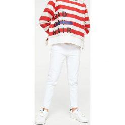 Mango Kids - Jeansy dziecięce Patri 110-164 cm. Białe jeansy dziewczęce Mango Kids, z bawełny. W wyprzedaży za 49,90 zł.