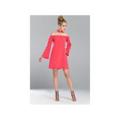 Sukienka Miami. Czerwone sukienki na komunię Flawdress, l, z gumy, z chokerem, proste. Za 149,00 zł.