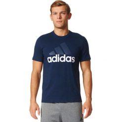 Adidas Koszulka ESS Linear Tee granatowa r. S (S98732). Białe koszulki sportowe męskie marki Adidas, m. Za 79,63 zł.
