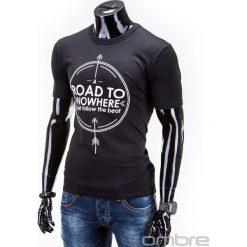 T-SHIRT MĘSKI Z NADRUKIEM S558 - CZARNY. Czarne t-shirty męskie z nadrukiem Ombre Clothing, m. Za 29,00 zł.
