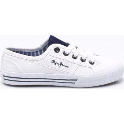 Pepe Jeans - Tenisówki dziecięce. Szare tenisówki męskie Pepe Jeans, z gumy, z okrągłym noskiem, na sznurówki. Za 189,90 zł.
