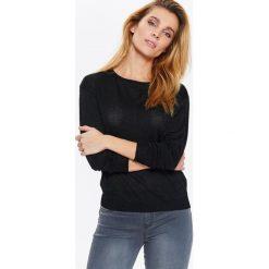 Swetry klasyczne damskie: SWETER DŁUGI RĘKAW DAMSKI, Z ZAMKIEM Z TYŁU