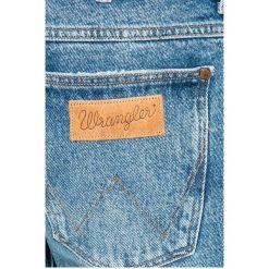 Wrangler - Jeansy Larston. Niebieskie jeansy męskie slim Wrangler, z bawełny. W wyprzedaży za 199,90 zł.