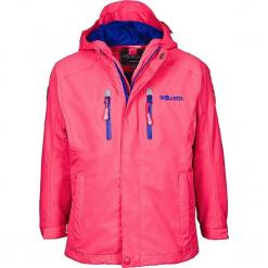 """Kurtka funkcyjna """"Sognefjord"""" w kolorze różowo-fioletowym. Czerwone kurtki dziewczęce przeciwdeszczowe marki Trollkids, z polaru. W wyprzedaży za 145,95 zł."""