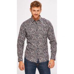 Selected - Koszula. Szare koszule męskie na spinki marki S.Oliver, l, z bawełny, z włoskim kołnierzykiem, z długim rękawem. W wyprzedaży za 159,90 zł.