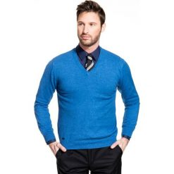 Sweter FABRIZIO SWNR000139. Czarne swetry klasyczne męskie Giacomo Conti, na jesień, m, z bawełny, dekolt w kształcie v. Za 149,00 zł.