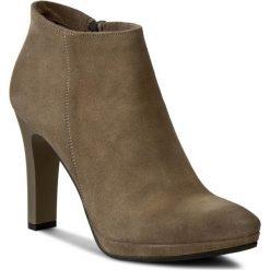 Botki OLEKSY - 377/454 Brązowy. Szare buty zimowe damskie marki Oleksy, ze skóry. W wyprzedaży za 259,00 zł.