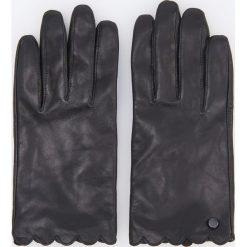 Skórzane rękawiczki - Czarny. Białe rękawiczki damskie marki Reserved, l, z dzianiny. Za 79,99 zł.