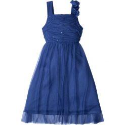 Sukienki dziewczęce z falbanami: Sukienka na uroczyste okazje bonprix szafirowy