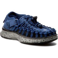 Sandały KEEN - Uneek 02 1016666 True Blue/Neutral Gray. Niebieskie sandały chłopięce Keen, z materiału. W wyprzedaży za 189,00 zł.