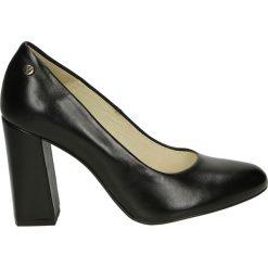 Czółenka - 17-40OB P NER. Czarne buty ślubne damskie Venezia, ze skóry. Za 299,00 zł.