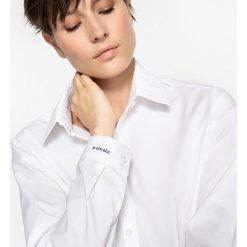 Bluzki asymetryczne: Bluzka z haftem #create na mankiecie