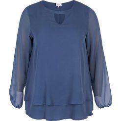 Bluzki asymetryczne: Gładka bluzka z okrągłym dekoltem, długi rękaw