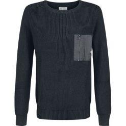 Shine Original Darin Sweter czarny. Czarne swetry klasyczne męskie Shine Original, xl, z dzianiny, z okrągłym kołnierzem. Za 164,90 zł.