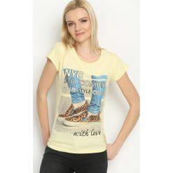 Bluzki, topy, tuniki: Żółty T-shirt Cool Style