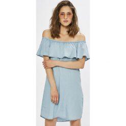 Vila - Sukienka Gia. Szare sukienki mini marki Vila, na co dzień, z lyocellu, casualowe. Za 219,90 zł.
