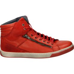 Botki męskie - 607 G-S RED. Czerwone botki męskie marki Venezia, ze skóry. Za 239,00 zł.