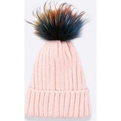 Answear - Czapka Blossom Mood. Szare czapki zimowe damskie marki ANSWEAR, na zimę, z dzianiny. W wyprzedaży za 39,90 zł.