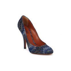 Czółenka Missoni  VM005. Niebieskie buty ślubne damskie Missoni. Za 1599,20 zł.