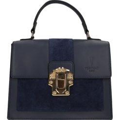 """Torebki klasyczne damskie: Skórzana torebka """"Royal"""" w kolorze granatowym – 27 x 22 x 10 cm"""