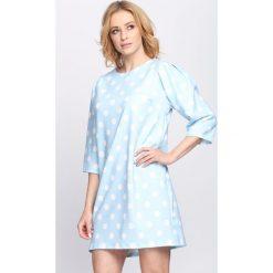 Jasnoniebieska Sukienka Another Love. Niebieskie sukienki hiszpanki Born2be, na lato, l. Za 79,99 zł.