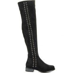 Buty zimowe damskie: Kozaki z ozdobnym wiązaniem JORDAN