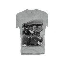T-shirt UNDERWORLD Ring spun cotton Motorcycle. Szare t-shirty męskie z nadrukiem marki Underworld, m, z bawełny. Za 59,99 zł.